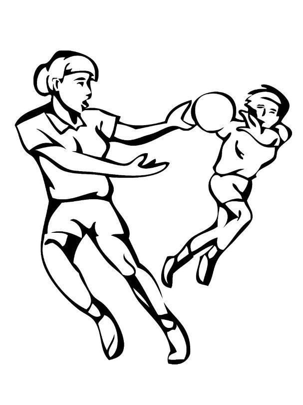 Раскраска женский гандбол