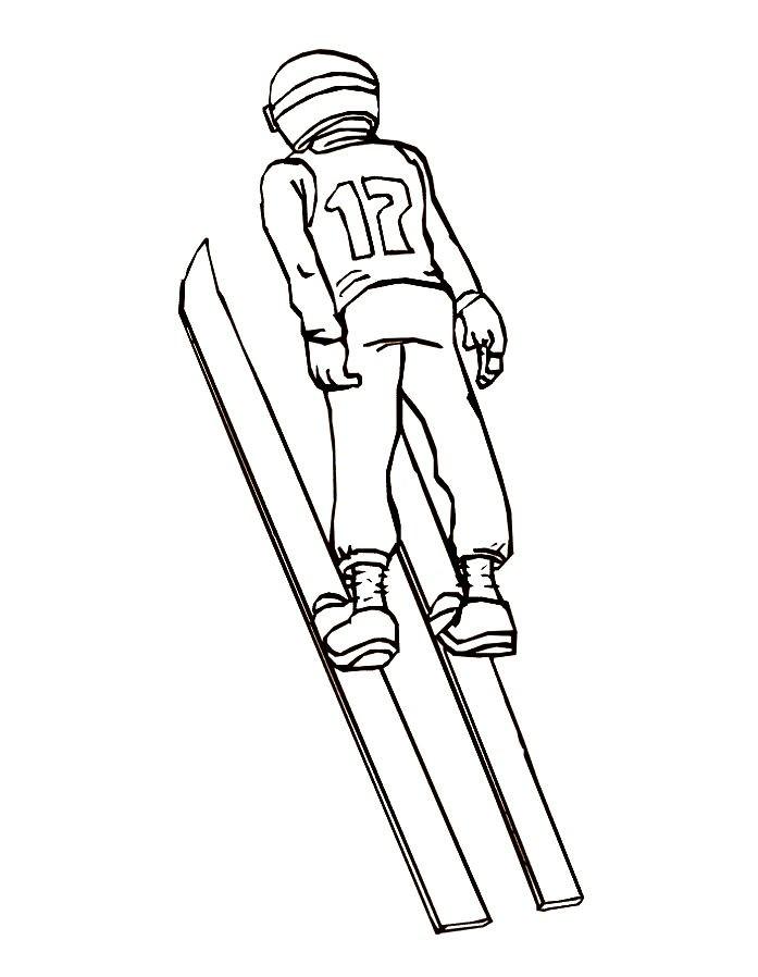 Раскраска прыжки с трамплина