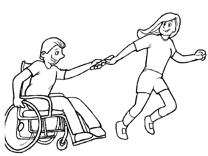 Раскраска паралимпийские игры