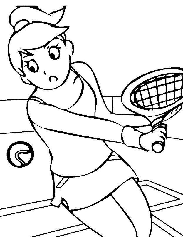 Раскраска теннис