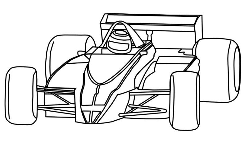 Раскраска Formula 1