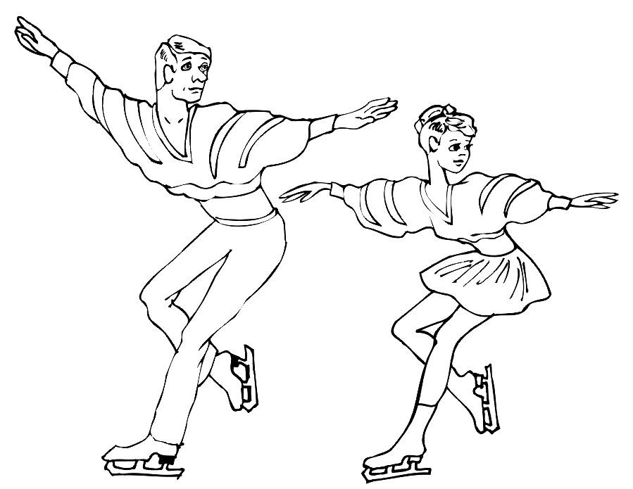 картинки Спорт Зимние виды спорта скачать и распечатать онлайн | 695x899