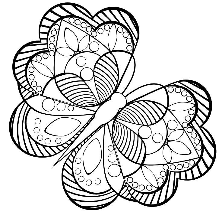 Раскраска бабочка антистресс