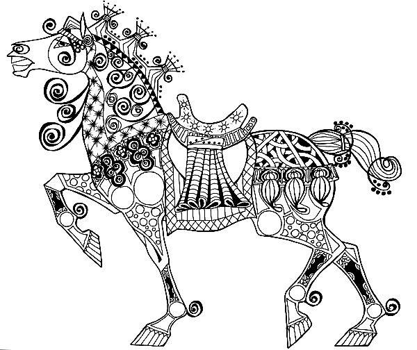 Раскраска арр терапия — конь