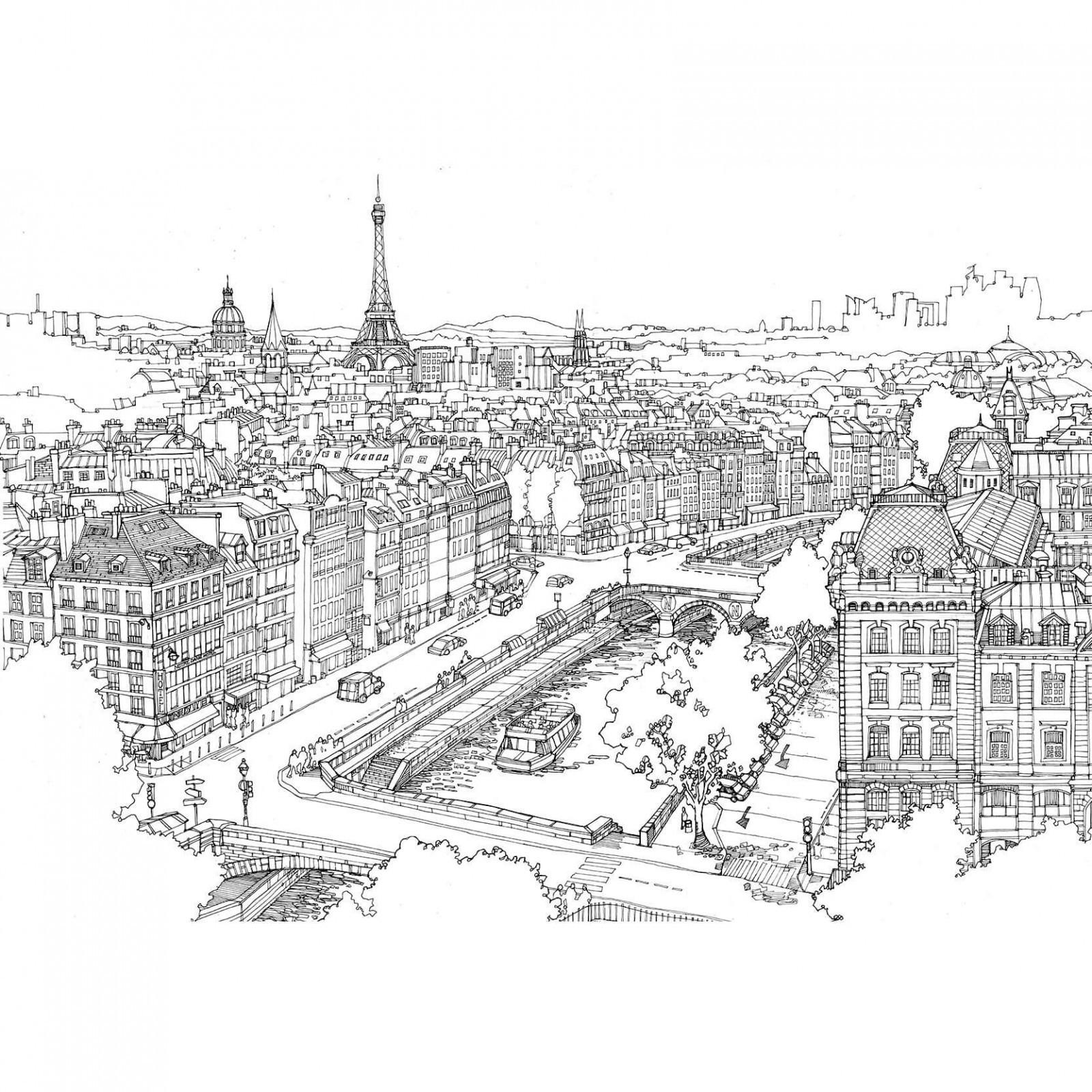 Раскраска Париж