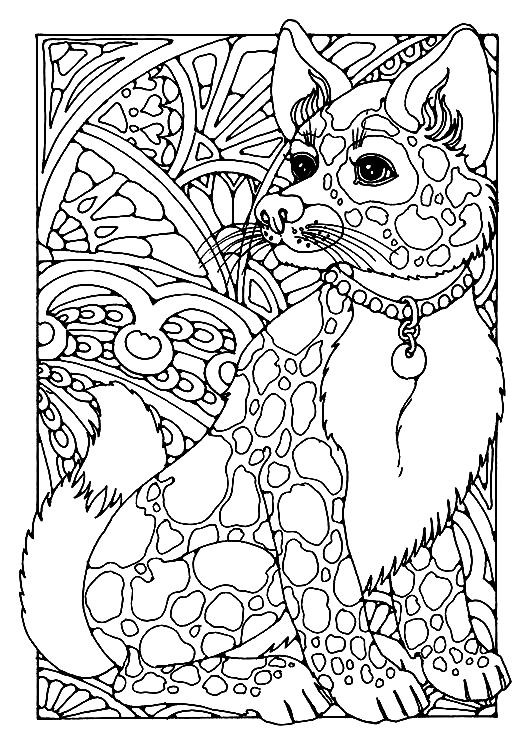 Раскраска антистресс собака | Раскраски для детей ...