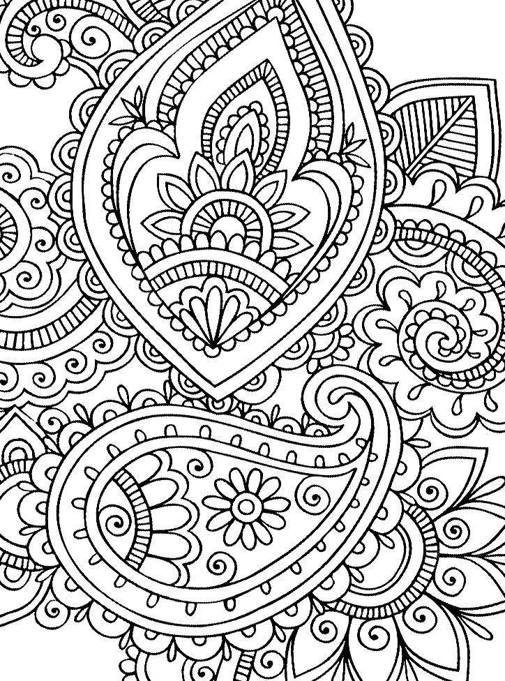 Раскраска узор для снятия стресса