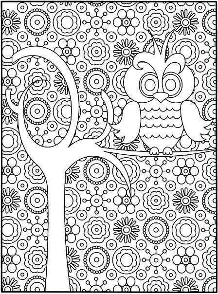 Раскраска лесной релакс