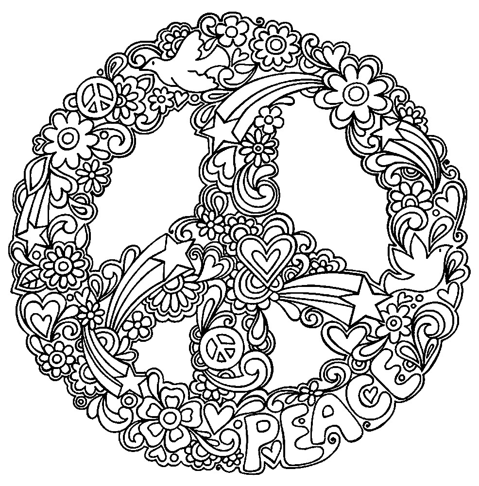 Раскраска мандала мир