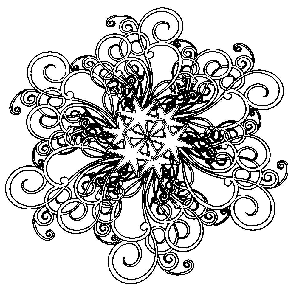 Раскраска узор с звездами