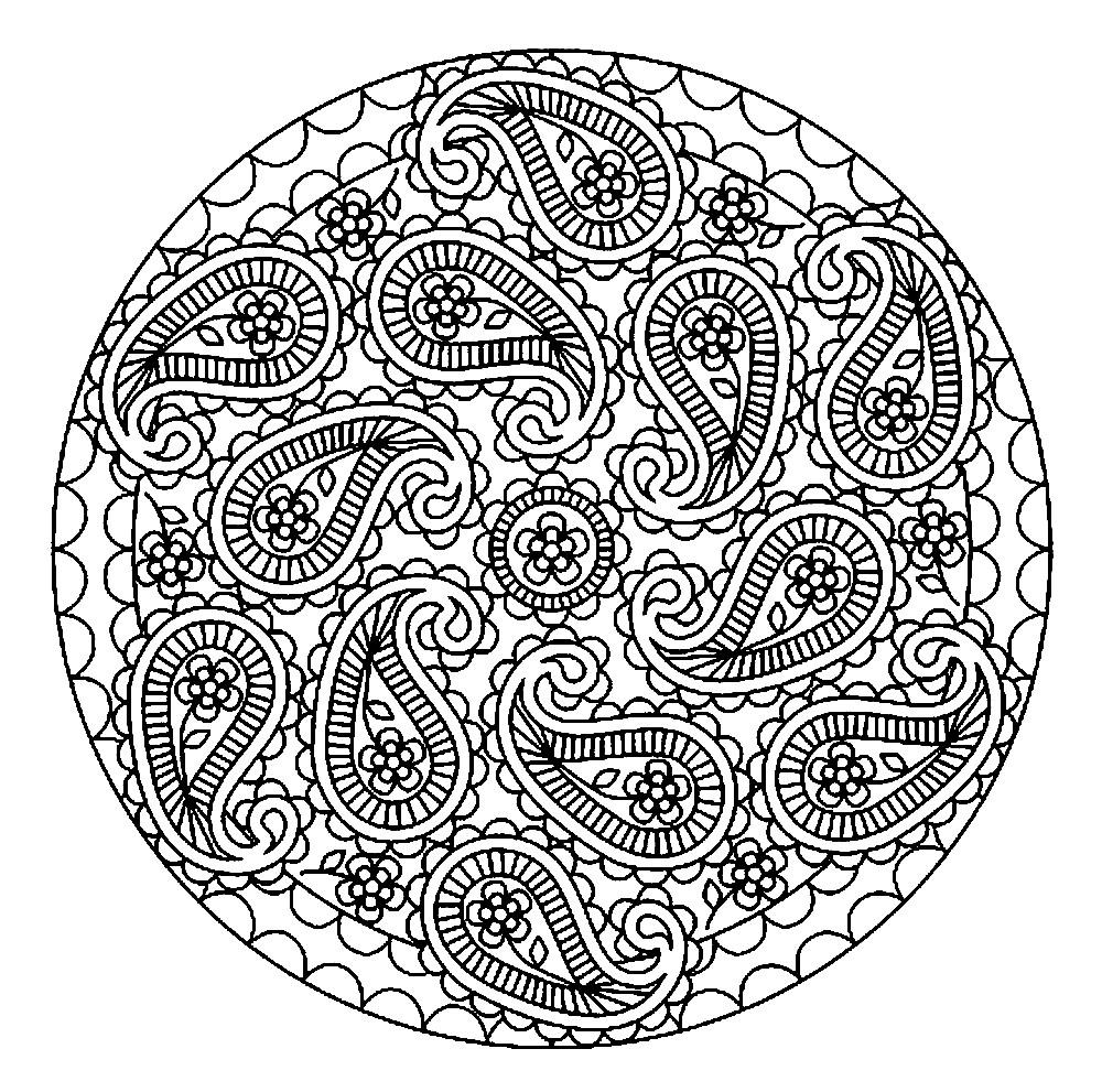 Раскраска мандала капельки