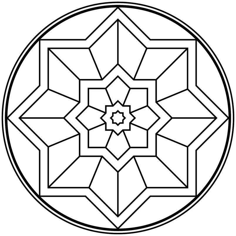 Раскраска геометрическая мандала