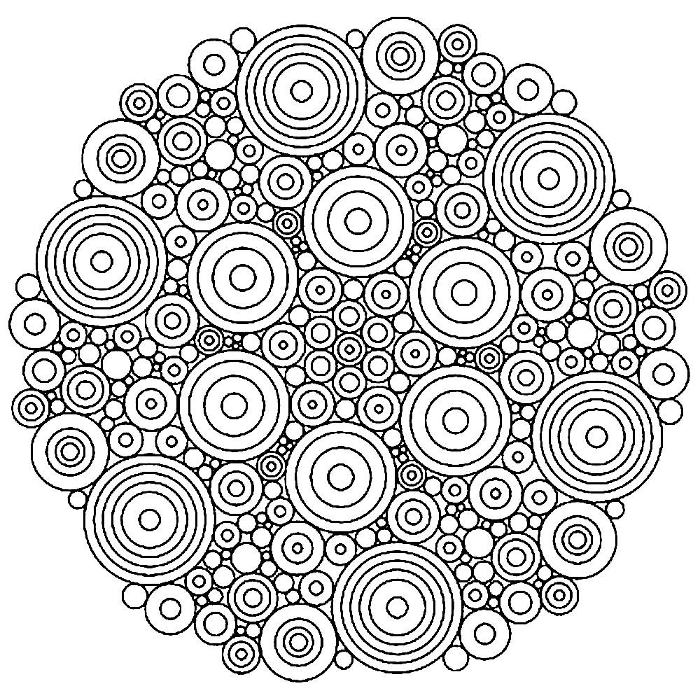 Раскраска мандала из кругов