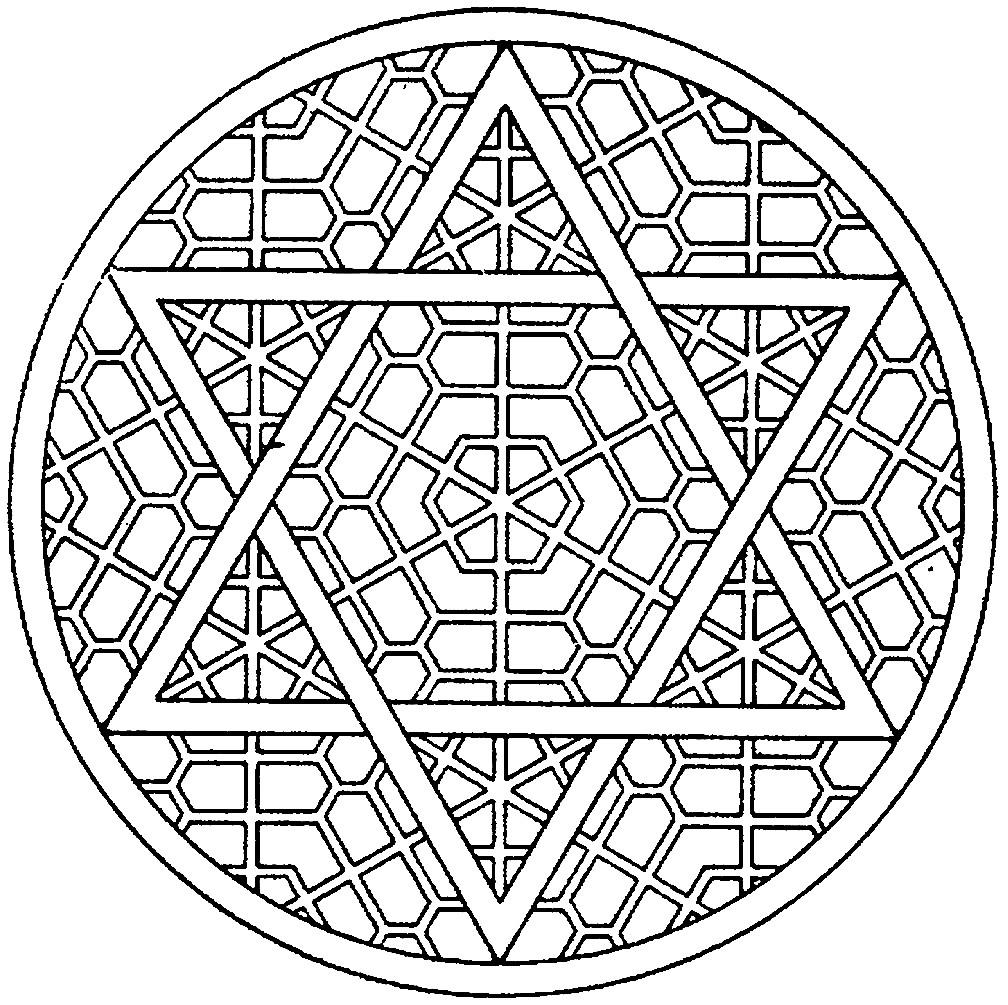 Раскраска шестиконечная звезда