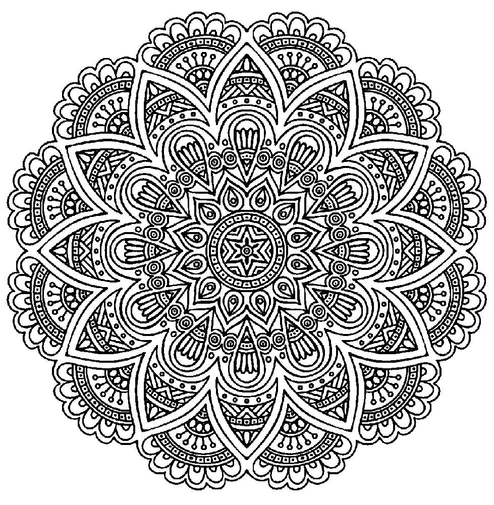 Раскраска Французское кружево