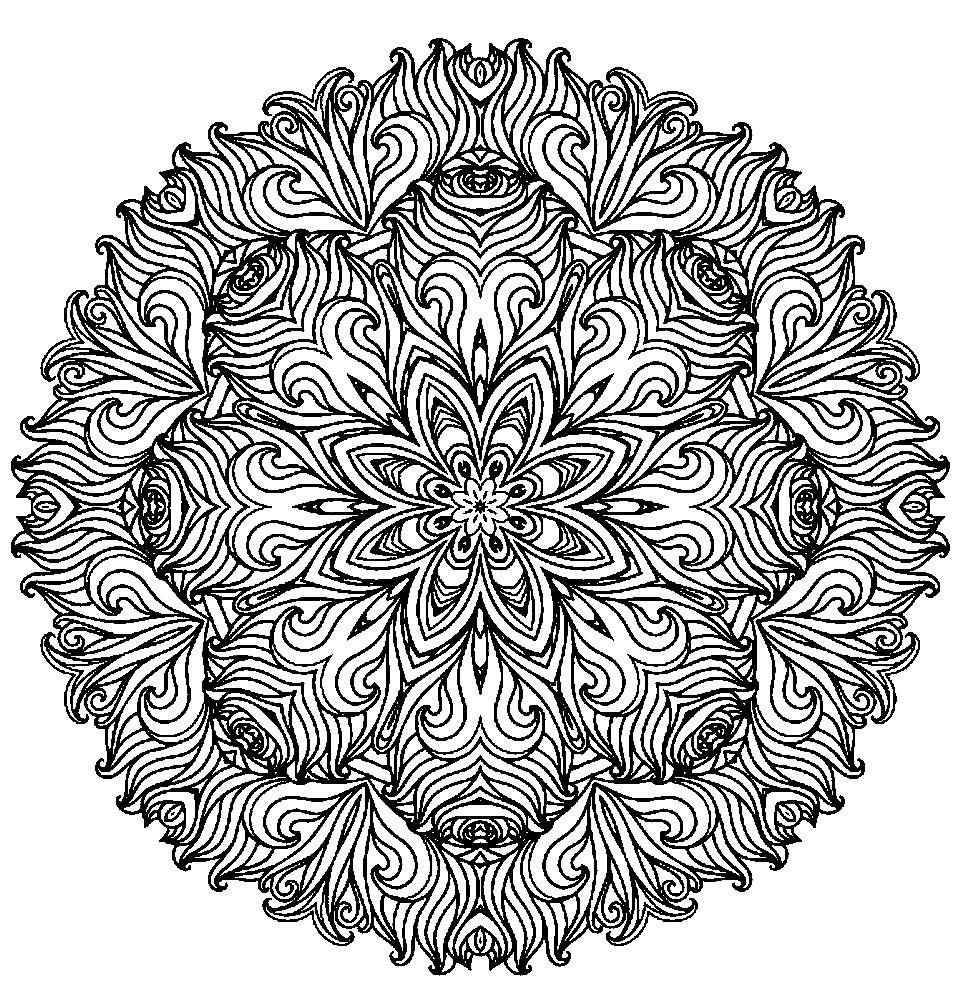 Раскраска растительный орнамент