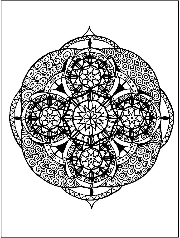 Раскраска кружево