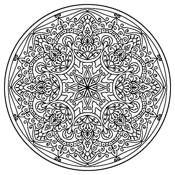 Раскраска восточная мандала