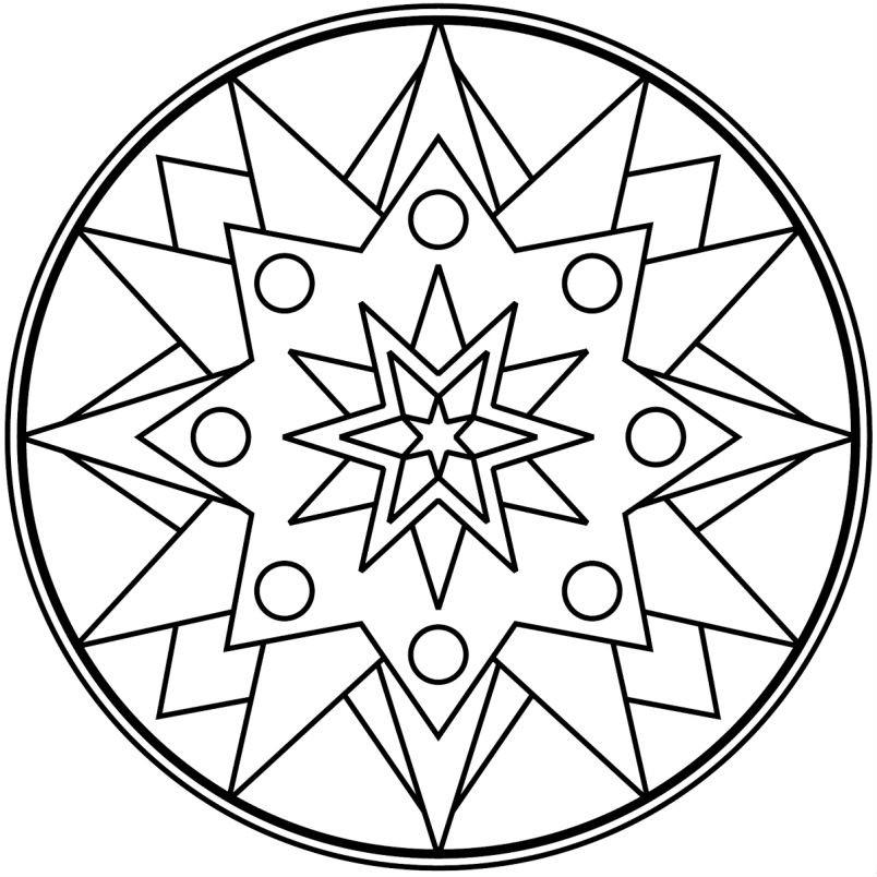 Раскраска мандала звезды