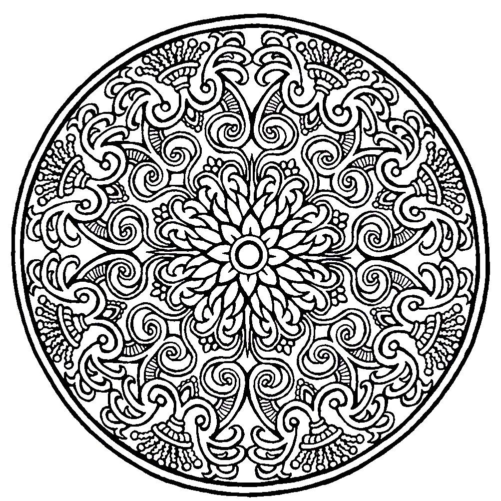 Раскраска мандала с красивым узором