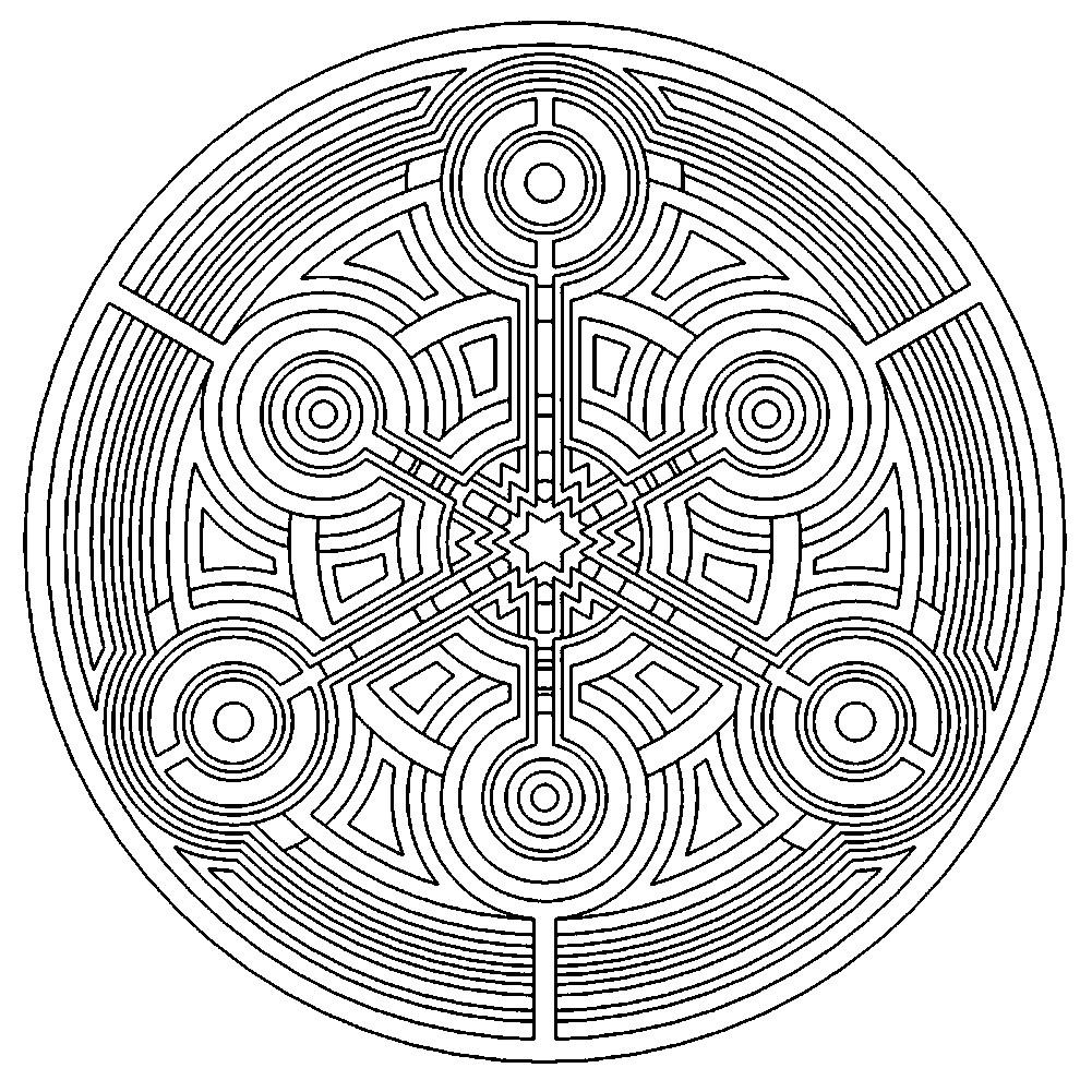 Раскраска волшебная мандала