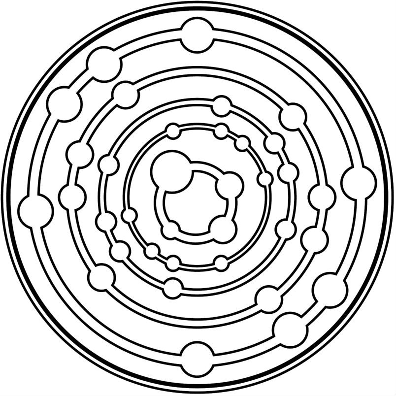 Раскраска мандала вселенная