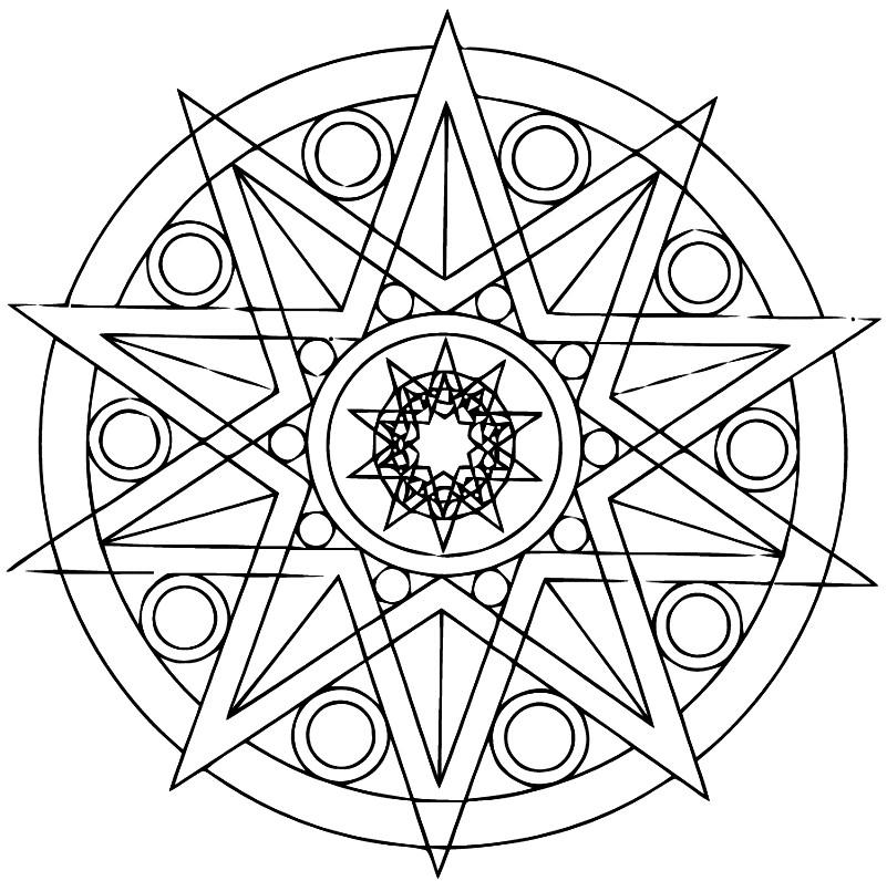 Раскраска десятиконечная звезда
