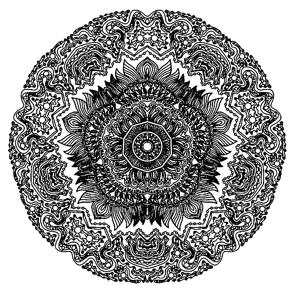 Раскраска узор из мелких элементов