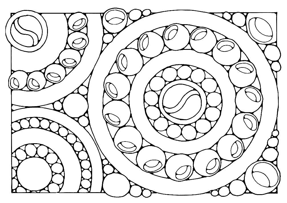 Раскраска прямоугольная мандала