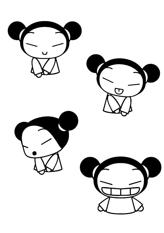 Раскраска Японские анимешки