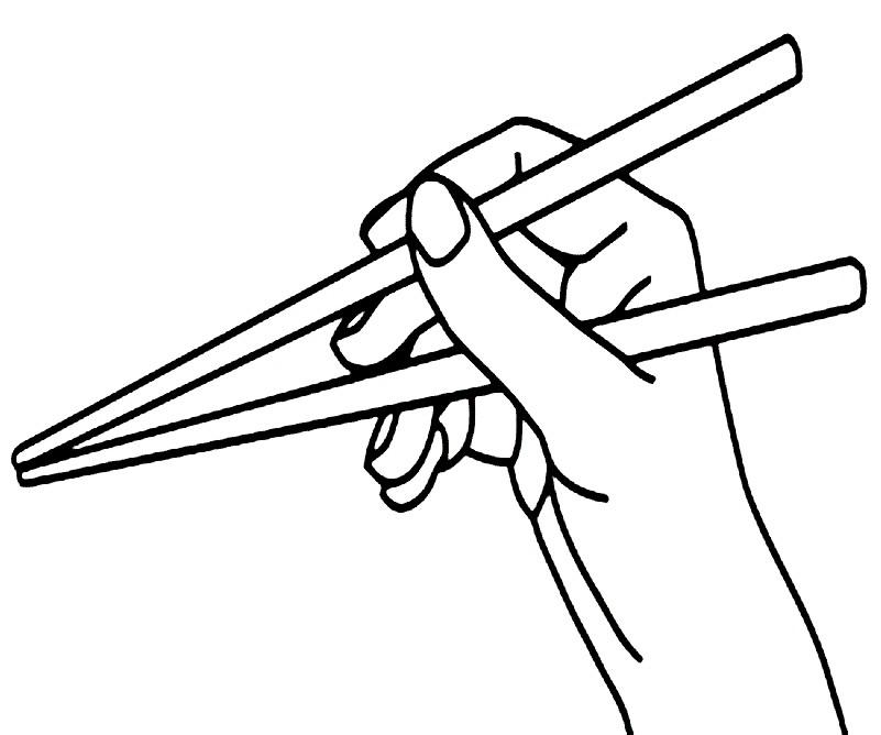 Раскраска Японские палочки