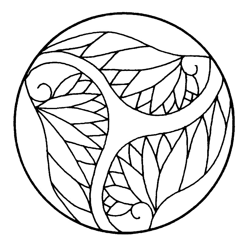 Раскраска Японский орнамент