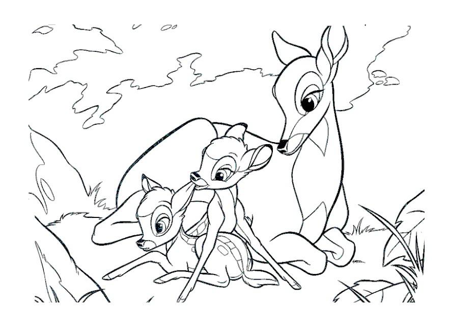 Раскраска олень из мультфильма