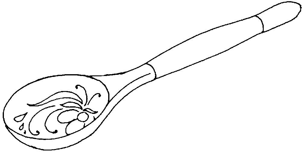Раскраска ложка Хохлома