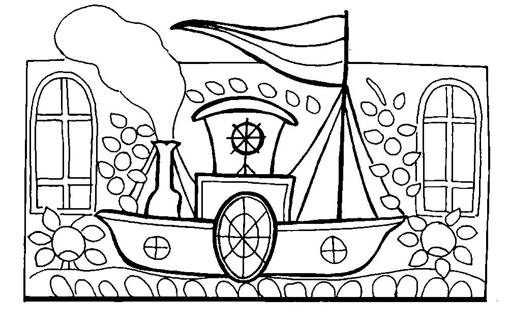 Раскраска картинка Городецкая роспись