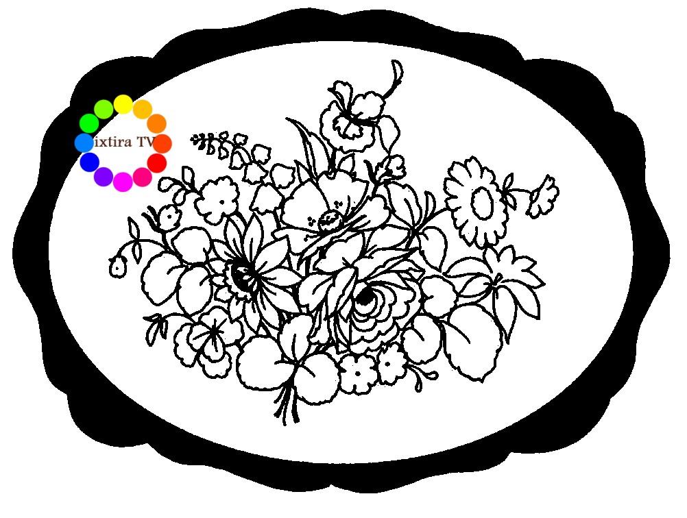Жостовская роспись на подносах раскраска