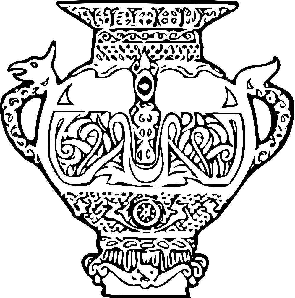 Раскраска ваза Викингов