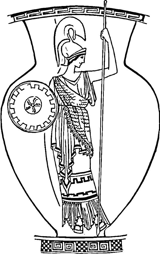 Раскраска большая Античная ваза