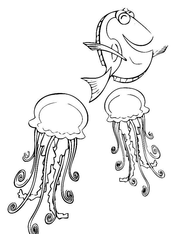 Раскраска морские медузы   Раскраски для детей распечатать ...