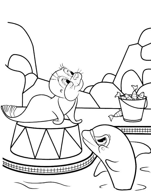 ДЕЛЬФИНЫ | Раскраски для детей распечатать бесплатно в ...
