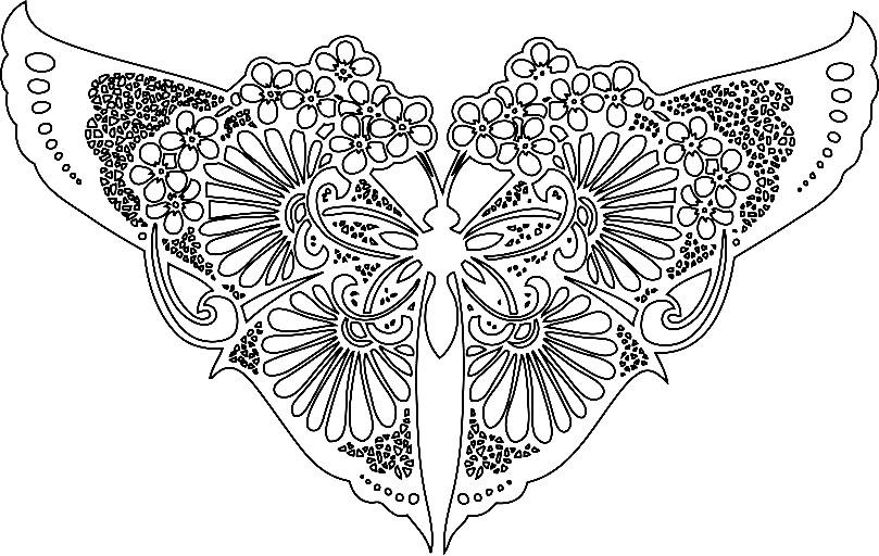 Раскраска бабочка арт терапия