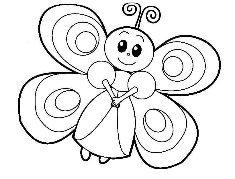 Раскраска бабочка из мультика