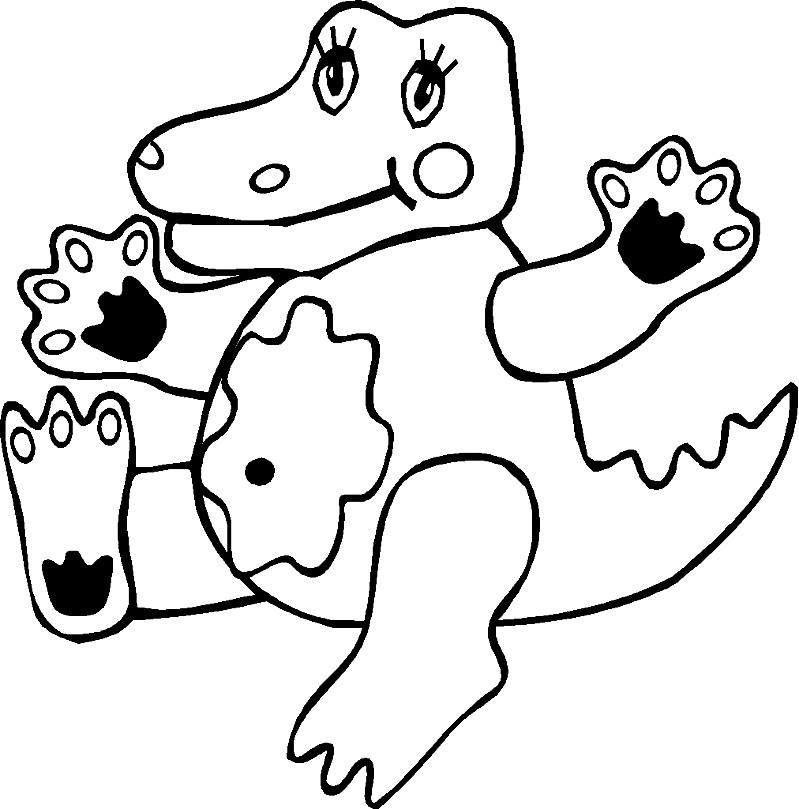 Раскраска крокодил для малышей