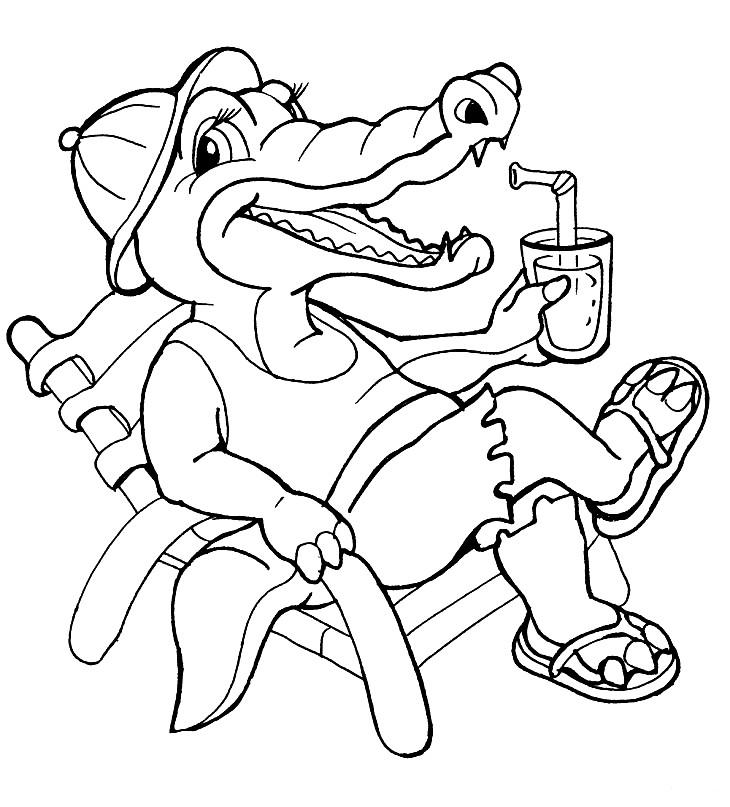 Раскраска крокодил из мультика