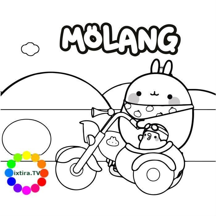 Раскраска приключения Моланга