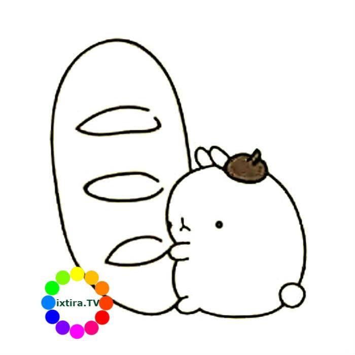 Раскраска кролик Моланг