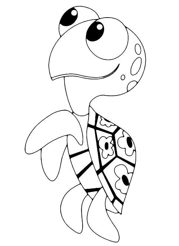 Раскраска черепаха для детей