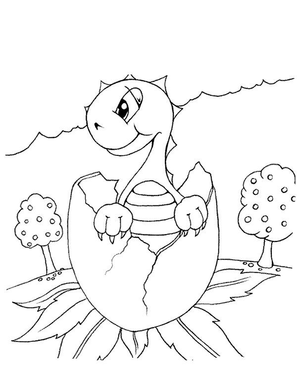 Раскраска рождение динозавра