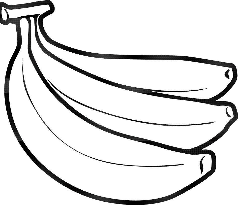 Раскраска связка бананов