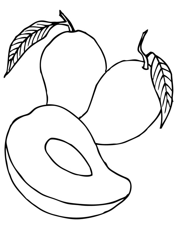 Раскраска манго